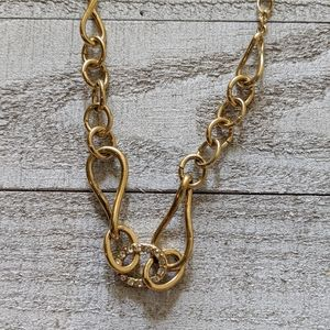 Gold Chain with Rhinestones